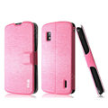 IMAK Slim leather Case holder Holster Cover for LG E960 Nexus 4 - Pink