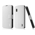IMAK Slim leather Case holder Holster Cover for LG E960 Nexus 4 - White