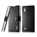 IMAK Slim leather Case holder Holster Cover for LG P765 Optimus L9 - Black