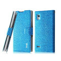 IMAK Slim leather Case holder Holster Cover for LG P765 Optimus L9 - Blue