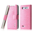 IMAK Slim leather Case holder Holster Cover for Motorola XT788 - Pink