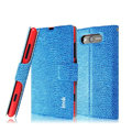 IMAK Slim leather Case holder Holster Cover for Nokia Lumia 820 - Blue