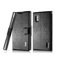 IMAK Slim leather Case support Holster Cover for LG E970 - Black