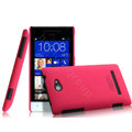IMAK Ultrathin Matte Color Cover Hard Case for HTC 8S - Rose (High transparent screen protector)