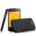 IMAK Ultrathin Matte Color Cover Hard Case for LG E960 Nexus 4 - Black (High transparent screen protector)