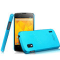 IMAK Ultrathin Matte Color Cover Hard Case for LG E960 Nexus 4 - Blue (High transparent screen protector)