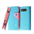 IMAK cross leather case Button holster holder cover for Nokia Lumia 820 - Blue
