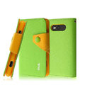 IMAK cross leather case Button holster holder cover for Nokia Lumia 820 - Green