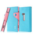 IMAK cross leather case Button holster holder cover for Nokia Lumia 920 - Blue