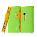 IMAK cross leather case Button holster holder cover for Nokia Lumia 920 - Green