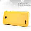 Nillkin Colourful Hard Case Skin Cover for Lenovo A586 - Yellow (High transparent screen protector)