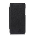 Nillkin England Retro Leather Case Holster Cover for HTC X920e Droid DNA - Black (High transparent screen protector)