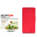 Nillkin Fresh leather Case button Holster Cover Skin for Coolpad 8730 - Red