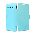 Nillkin Fresh leather Case button Holster Cover Skin for HUAWEI C8813 - Blue