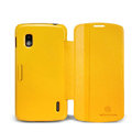Nillkin Fresh leather Case button Holster Cover Skin for LG E960 Nexus 4 - Yellow