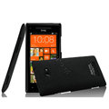 IMAK Cowboy Shell Hard Case Cover for HTC 8X C620e - Black (High transparent screen protector)
