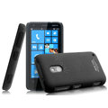 IMAK Cowboy Shell Hard Case Cover for Nokia Lumia 620 - Black (High transparent screen protector)