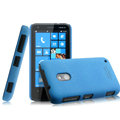 IMAK Cowboy Shell Hard Case Cover for Nokia Lumia 620 - Blue (High transparent screen protector)