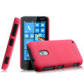 IMAK Cowboy Shell Hard Case Cover for Nokia Lumia 620 - Rose (High transparent screen protector)