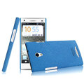 IMAK Cowboy Shell Hard Case Cover for OPPO U705T Ulike2 - Blue (High transparent screen protector)