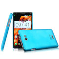 IMAK Ultrathin Matte Color Cover Hard Case for Coolpad 8730 - Blue (High transparent screen protector)