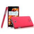 IMAK Ultrathin Matte Color Cover Hard Case for Coolpad 8730 - Rose (High transparent screen protector)