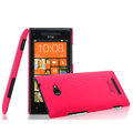 IMAK Ultrathin Matte Color Cover Hard Case for HTC 8X - Rose (High transparent screen protector)