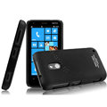IMAK Ultrathin Matte Color Cover Hard Case for Nokia Lumia 620 - Black (High transparent screen protector)