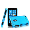 IMAK Ultrathin Matte Color Cover Hard Case for Nokia Lumia 620 - Blue (High transparent screen protector)