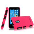 IMAK Ultrathin Matte Color Cover Hard Case for Nokia Lumia 620 - Rose (High transparent screen protector)