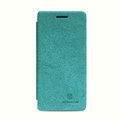 Nillkin leather Cases Holster Covers Skin for OPPO X909 Find 5 - Green (High transparent screen protector)