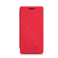 Nillkin leather Cases Holster Covers Skin for OPPO X909 Find 5 - Red (High transparent screen protector)