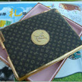 LV Louis Vuitton Flower Leather Case Holster Cover for iPad 2 - Brown