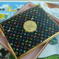 LV Louis Vuitton Flower Leather Case Holster Cover for iPad 2 - Multicolor