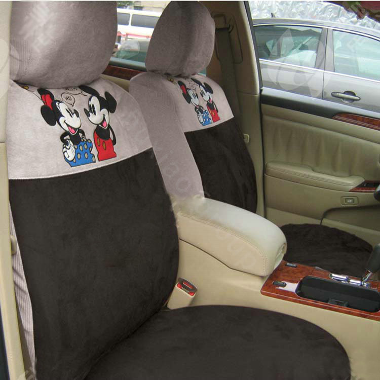 buy wholesale disney mickey mouse custom auto car seat cover set suede coffee from chinese. Black Bedroom Furniture Sets. Home Design Ideas