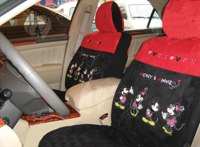 buy wholesale disney mickey mouse suede custom auto car seat cover set red black from chinese. Black Bedroom Furniture Sets. Home Design Ideas