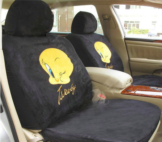 buy wholesale disney tweety bird custom auto car seat cover set suede black from chinese. Black Bedroom Furniture Sets. Home Design Ideas