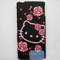 Hello Kitty Matte Hard Case Cover Shell for Sony Ericsson LT22i Xperia P - Pink
