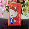 Hello kitty Bling Crystal Case Rhinestone Cover for LG P880 Optimus 4X HD - Red