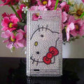 Hello kitty Bling Crystal Case Rhinestone Cover for LG P880 Optimus 4X HD - White