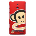 Paul Frank Matte Hard Case Cover Shell for Sony Ericsson LT22i Xperia P - Red