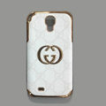 GUCCI leather Case Hard Back Cover for Samsung GALAXY S4 I9500 SIV - White