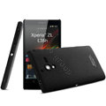 IMAK Cowboy Shell Hard Case Cover for Sony L35h Xperia ZL - Black (High transparent screen protector)
