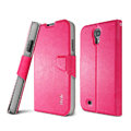 IMAK R64 lines leather Case support Holster Cover for Samsung GALAXY S4 I9500 SIV - Rose
