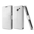 IMAK Slim leather Case support Holster Cover for HUAWEI Ascend D2 - White
