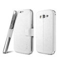 IMAK Slim leather Case support Holster Cover for Samsung i9080 i9082 Galaxy Grand DUOS - White