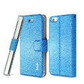 IMAK Slim leather Case support Holster Cover for iPhone 5 - Blue