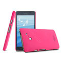 IMAK Ultrathin Matte Color Cover Hard Case for HUAWEI Ascend D2 - Rose (High transparent screen protector)