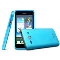 IMAK Ultrathin Matte Color Cover Hard Case for HUAWEI C8813 - Blue (High transparent screen protector)