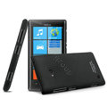 IMAK Ultrathin Matte Color Cover Hard Case for Nokia Lumia 720 - Black (High transparent screen protector)